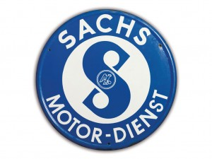 "Lot 122: Sachs ""Engine Service"" Sign  SOLD for $"