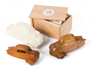 Lot 135: Wood and Porcelain Messerschmitt Models SOLD for $