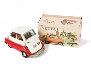 Lot 155: Bandai Isetta Toy Car and Original Box SOLD for $