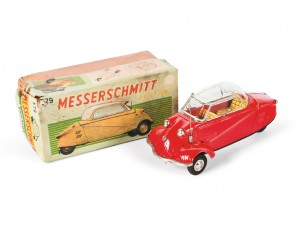 Lot 157: Bandai Messerschmitt Toy Car and Original Box SOLD for $