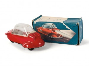 Lot 187: Messerschmitt Dealership Display Model and Original Box SOLD for $