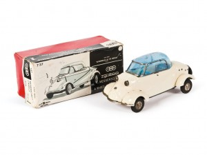 Lot 197: Bandai Messerschmitt Tiger Toy Car and Original Box SOLD for $