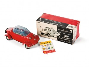 Lot 209: Bandai Messerschmitt Tiger Toy Car and Original Box SOLD for $