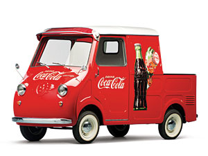 "Lot 297: 1959 Goggomobil TL-400 Transporter Pickup ""Coca-Cola"" SOLD for: $"
